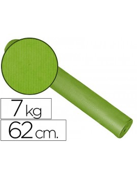 Papel Kraft liso bobine 60grs 62cm x 200mts Pistacho