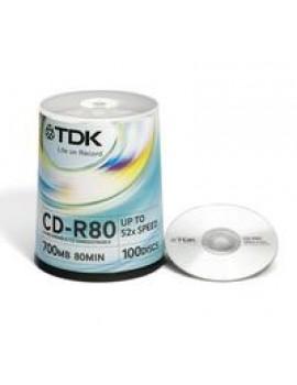 CD-R TDK  - 100 unidades