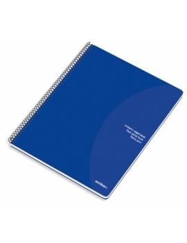 Caderno Espiral Ambar Capa Azul - A4