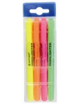 Marcador Fluorescente Centropen 8722 - Blister 4 marcadores