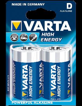 Pilhas Varta Alcalina High Energy - D