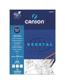 Bloco de papel Vegetal Canson 5627 - A3