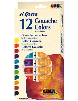 Guache EL GRECO 12ml Pack c/12 cores