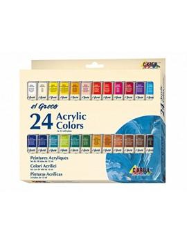 Acrílico EL GRECO 12ml Pack c/24 cores