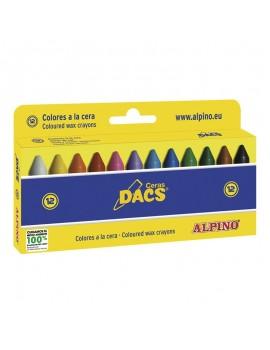 Lápis de cera Alpino DACS Ref. DA050290 - caixa com 12