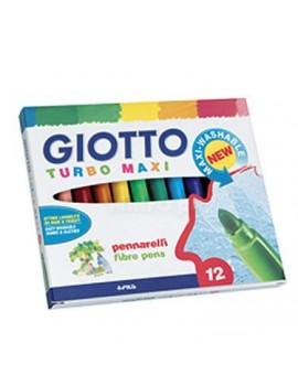 Marcadores de feltro Tubo Maxi Giotto 454000 - caixa com 12
