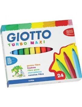 Marcadores de feltro Tubo Maxi Giotto 455000 - caixa com 24