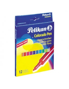 Marcadores de feltro Pelikan Colorado Pen 403/12 - caixa de 12