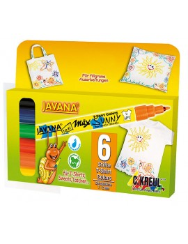 Marcador Javana Têxtil Sunny Fino Cx. c/6 cores