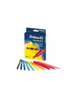 Marcadores de feltro Pelikan Colorado Pen 40324 - caixa de 24