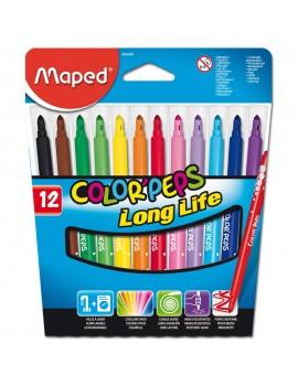 Marcadores de feltro Maped 845020 - caixa de 12