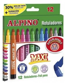 Marcadores de feltro Alpino Maxi Ref.AR000006  - caixa de 12