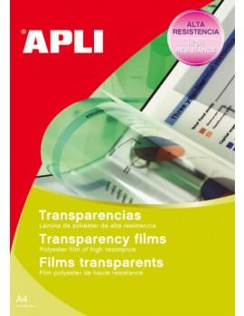 Acetatos Apli  0859 - A4 - Para fotocopiadoras a preto