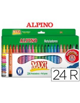 Marcadores de feltro Alpino Maxi Ref.AR000007  - caixa de 24