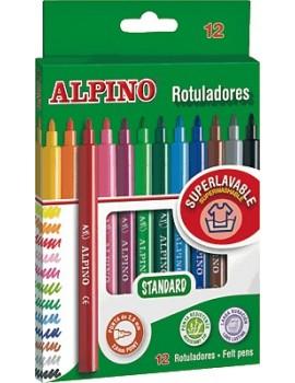 Marcadores de feltro Alpino Standard Ref.AR000002 - caixa de 12