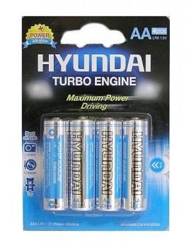 Pilhas Alcalinas Hyundai Turbo LR06-AA Blister c/4