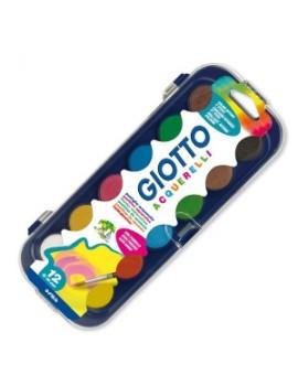 Aguarela Giotto 331000 - caixa com 12 pastilhas