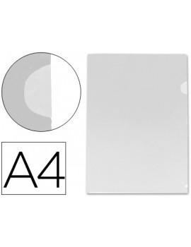 Bolsa Dossier Liderpapel polipropileno transparente, A4, cristal.